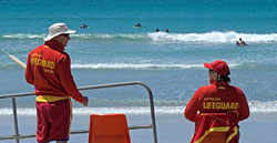 Life Guards on duty on East Beach Port Fairy